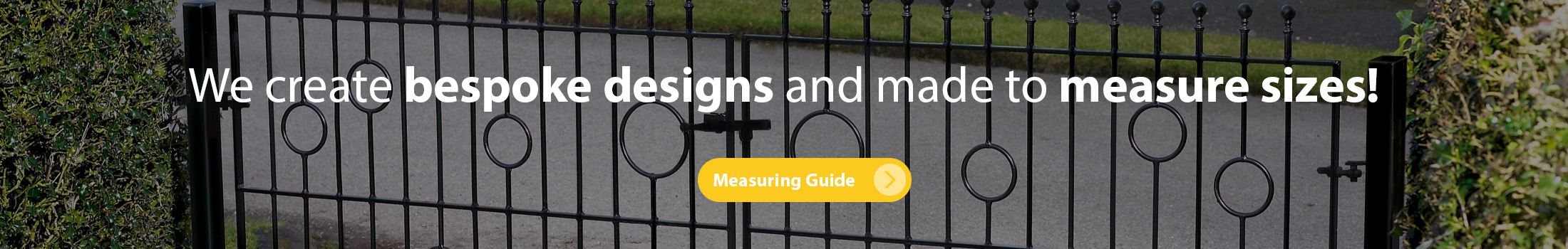 We create bespoke designs and made to measure residential gates - Click here to find out more