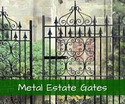 Double Wrought Iron Estate Gate Designs - Learn More