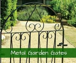 View our full range of wrought iron style metal garden gate designs
