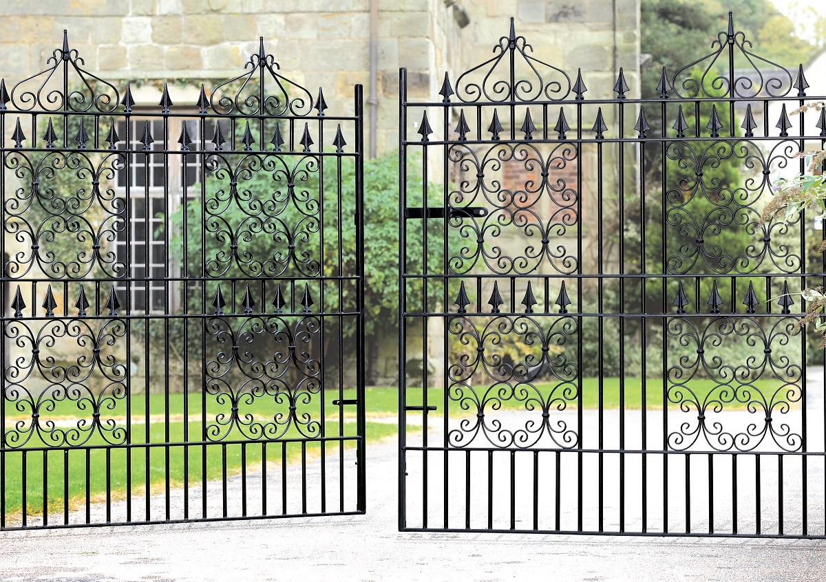 Royal Monarch wrought iron gate design