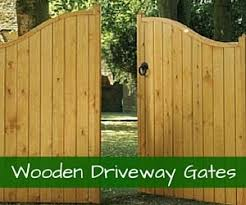 View our double wooden gates for the driveway