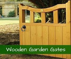 View wooden garden gate designs