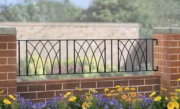 Abbey Wrought Iron Style Metal Garden Railings