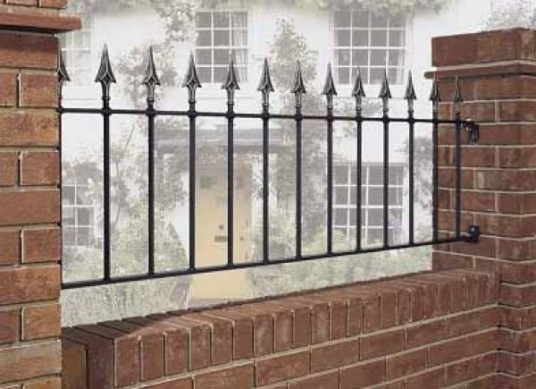Balmoral Wrought Iron Style Metal Garden Railings