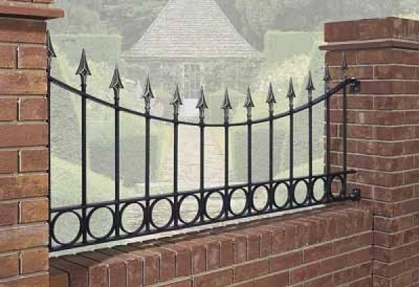 Balmoral Shaped Wrought Iron Style Metal Garden Railings