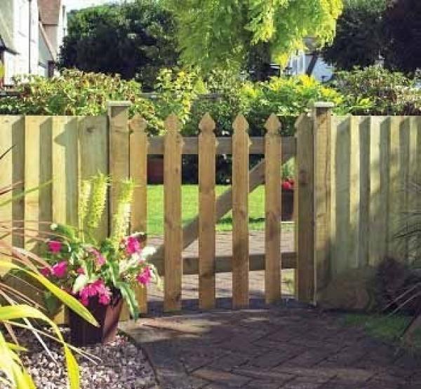 Elite Palisade Wooden Garden Gate