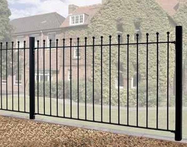 Manor Wrought Iron Style Metal Garden Fence Panel | 1.22m (4ft) High