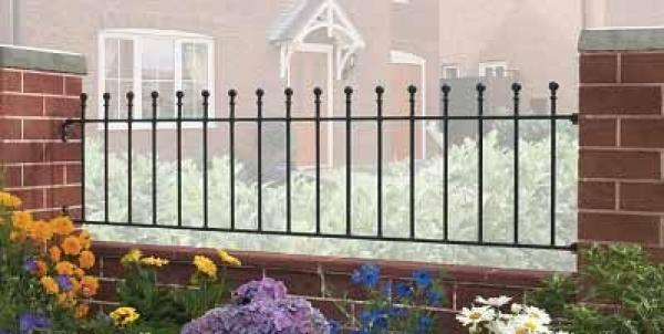 Manor Wrought Iron Style Metal Garden Railings