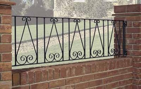 Regent Wrought Iron Style Metal Garden Railings