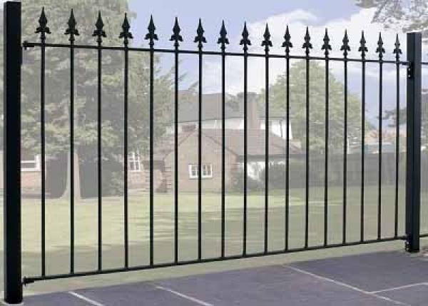 Saxon Wrought Iron Style Metal Garden Fence Panel