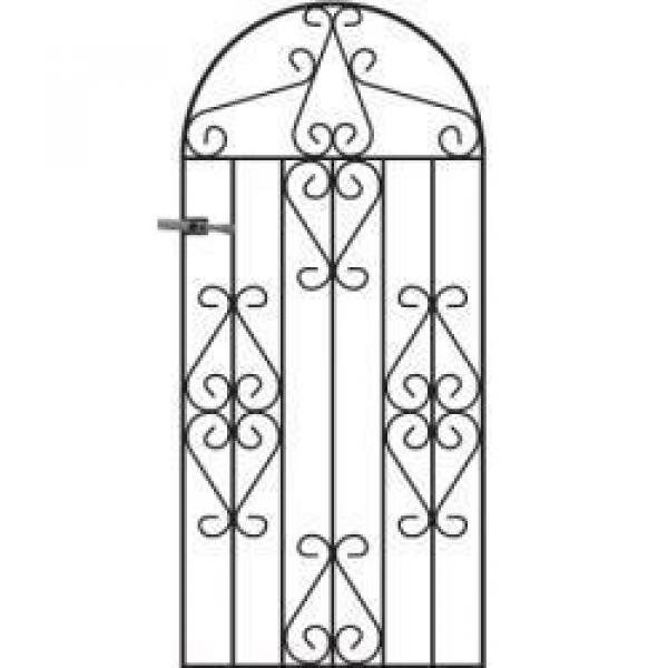 Winchester Arched Tall Metal Side Gate