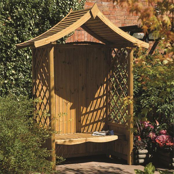 Rowlinson Tenbury Wooden Garden Arbour
