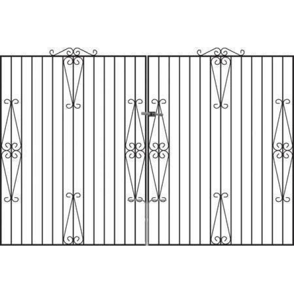 Winchester Wrought Iron Style Estate Gates