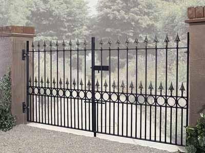Balmoral Wrought Iron Style Driveway Gates