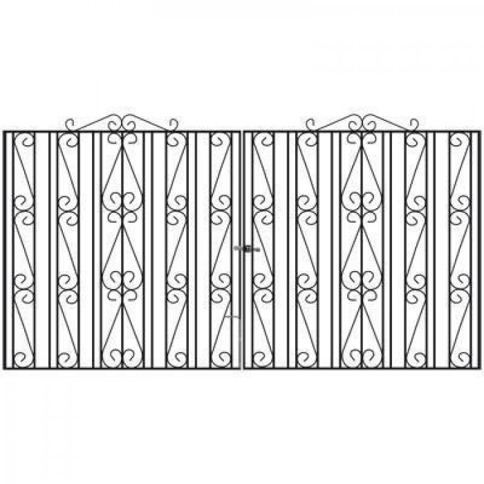Buckingham Wrought Iron Style Estate Gates