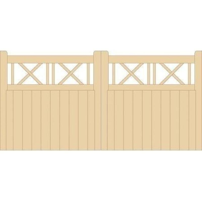 Buxton Wooden Driveway Gates | 4ft High