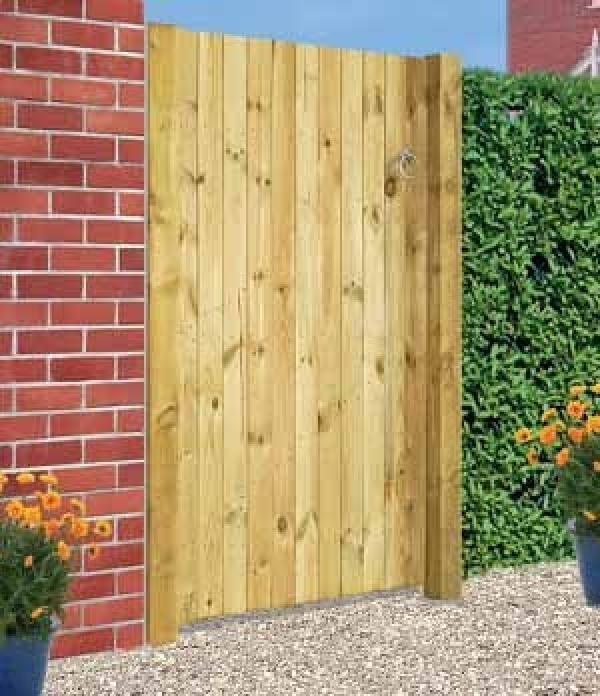 Carlton Wooden Side Gate | Square Top
