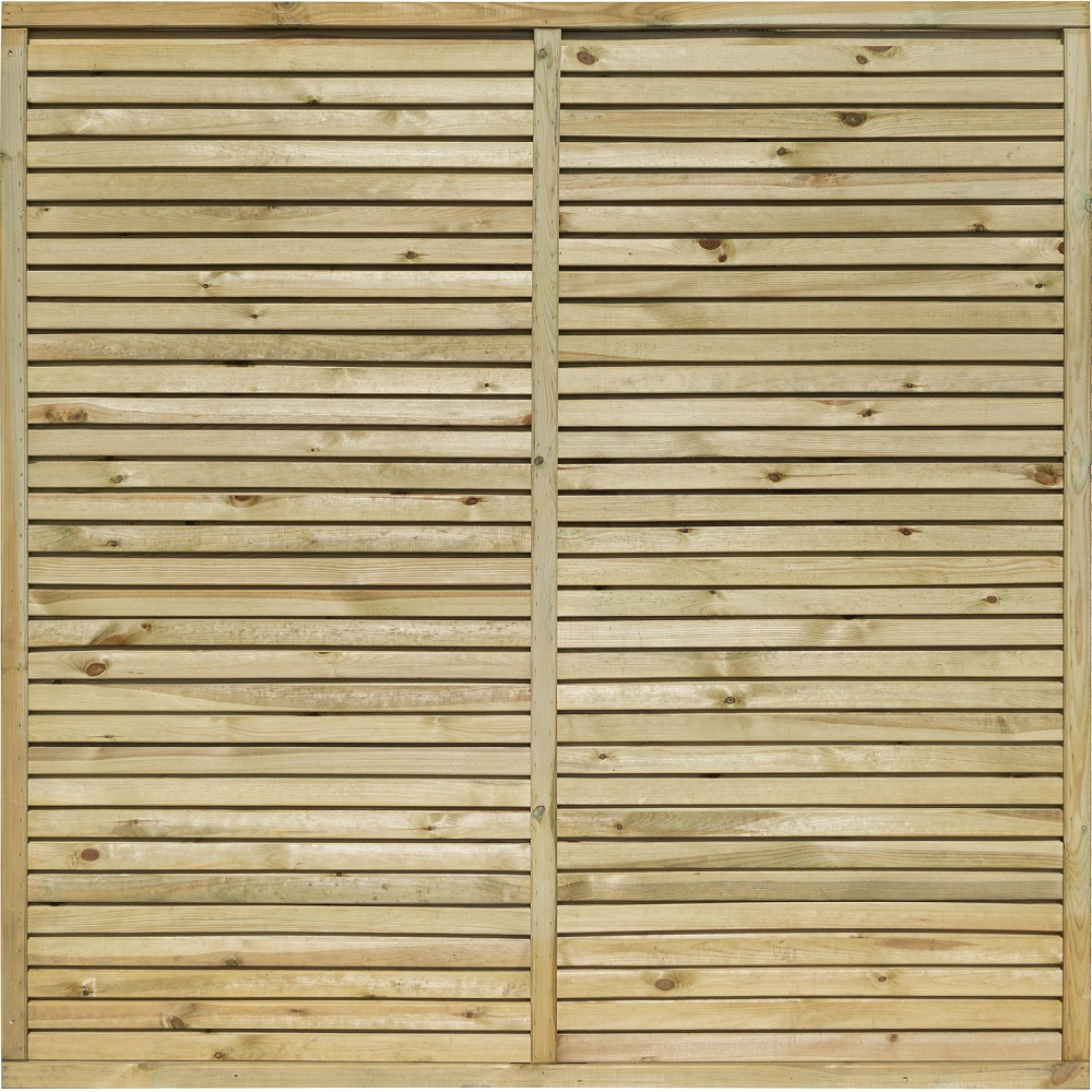 Cheshire Contemporary Pressure Treated Wooden Fence Panel