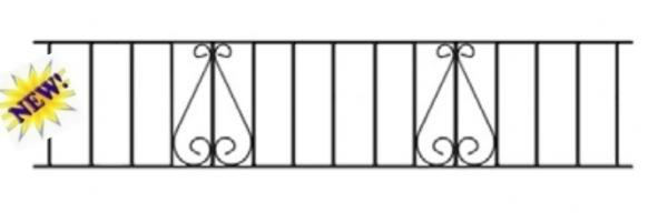 Classic Wrought Iron Style Metal Garden Railings