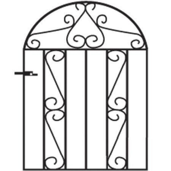 Clifton Arched Metal Garden Gate