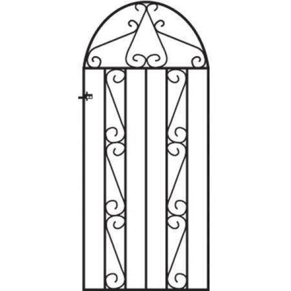 Clifton Arched Metal Side Gate