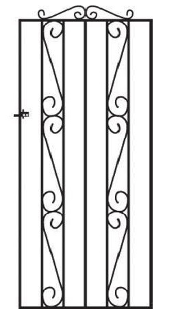 Clifton Tall Metal Side Gate