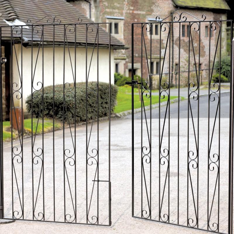 Clifton Wrought Iron Style Estate Gates