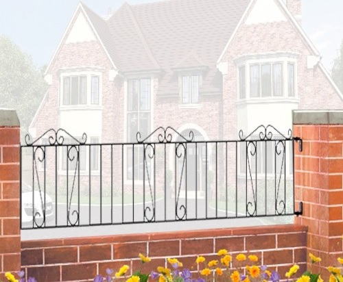 Clifton Wrought Iron Style Metal Garden Railings
