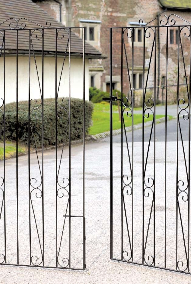 Clifton Wrought Iron Style Estate Gates