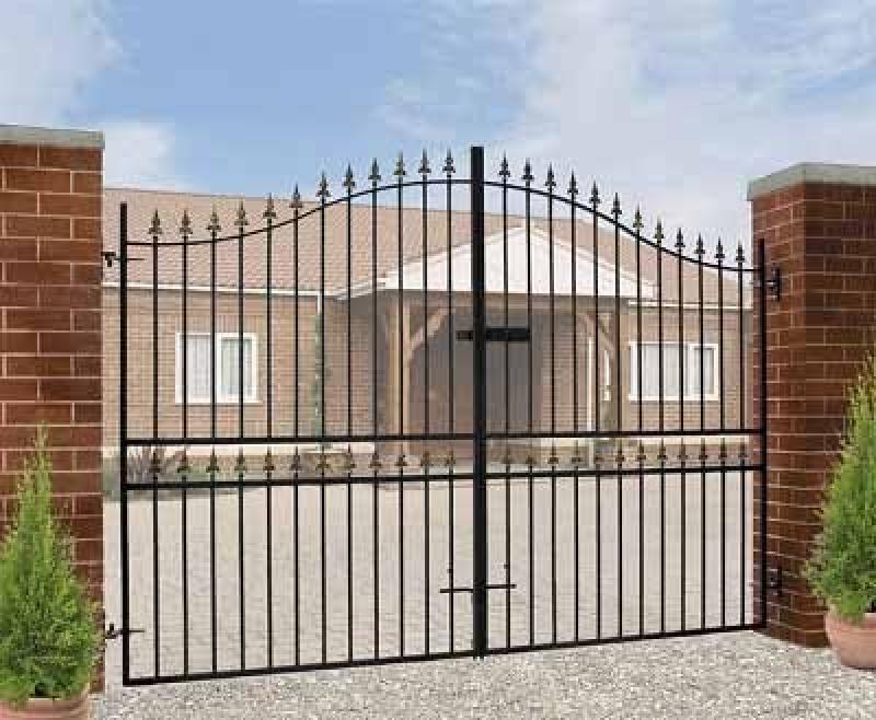 Corfe Split Bow Top Wrought Iron Style Estate Gates