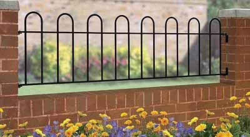 Court Wrought Iron Style Metal Garden Railings