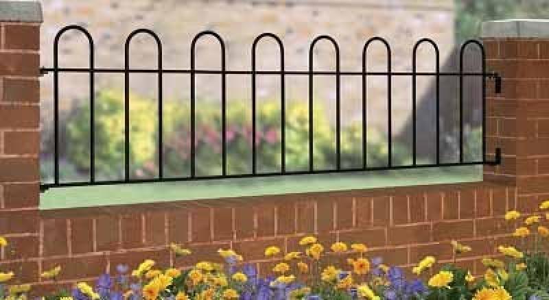 Court Wrought Iron Style Metal Garden Railings