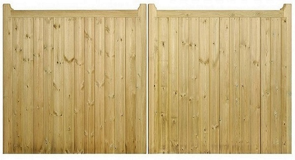 Drayton Square Top Wooden Driveway Gates | 0.95m High