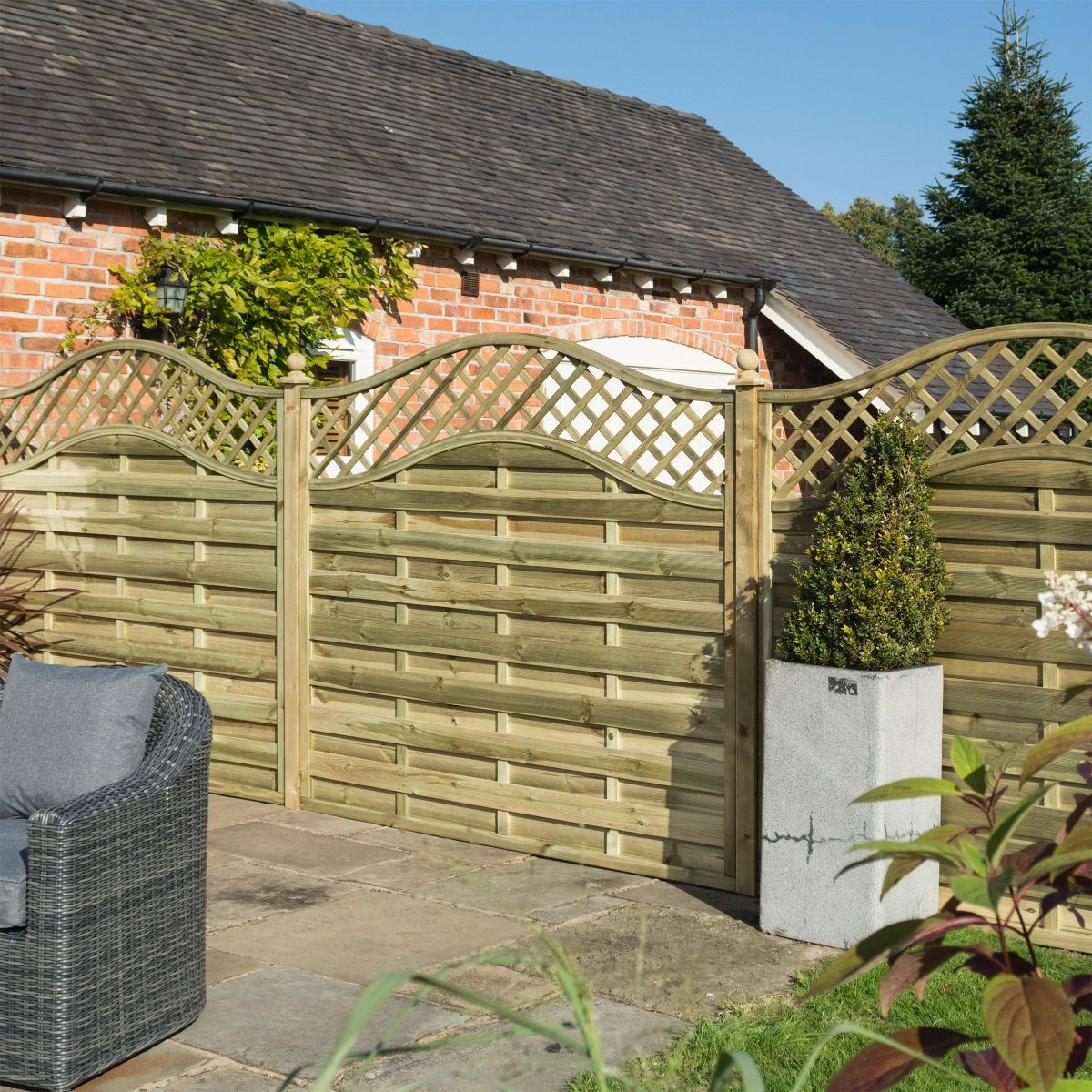 Grosvenor Pressure Treated Wooden Fence Panel