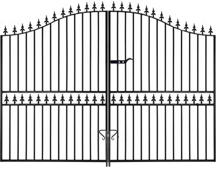 Hampton Arched Wrought Iron Style Estate Gates | 6ft High