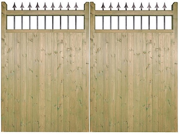 Wooden Garden Side Gate 1.8m Solid T/&G Treated Hinges Included SELECT SIZE
