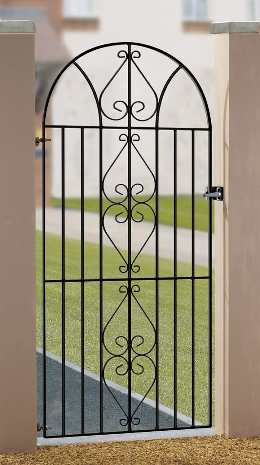 Henley Arched Tall Metal Side Gate