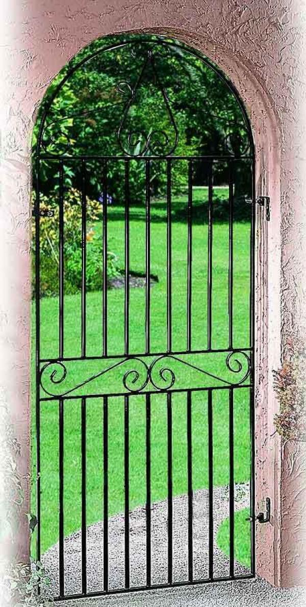 Marlborough Arched Metal Side Gate   Buy Marlborough Arched