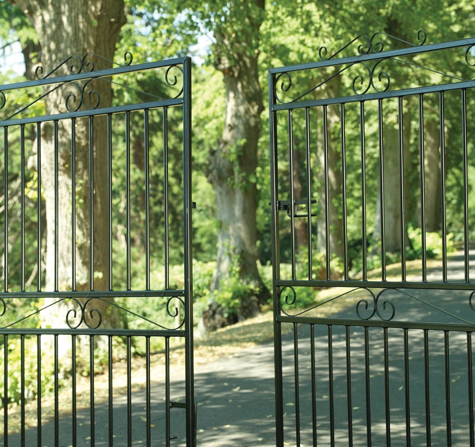 Marlborough Wrought Iron Style Estate Gates