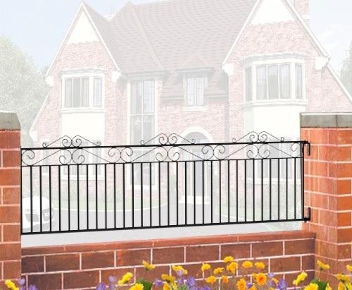 Marlborough Wrought Iron Style Metal Garden Railings