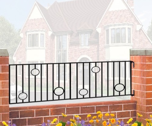 Picasso Wrought Iron Style Metal Garden Railings