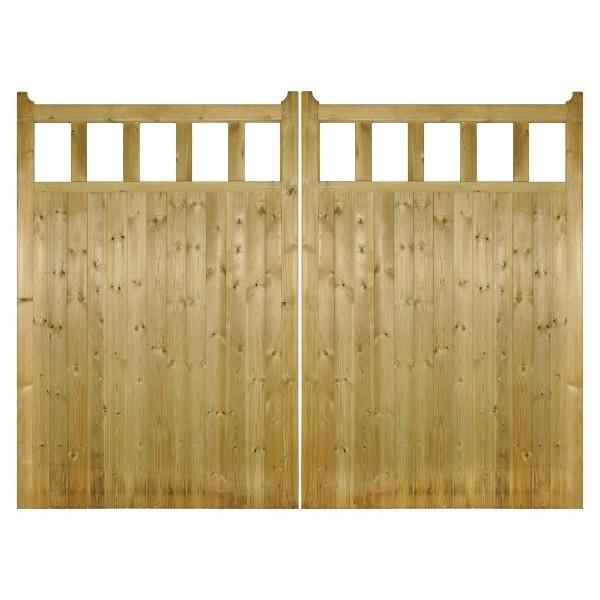 Quorn Wooden Estate Gates