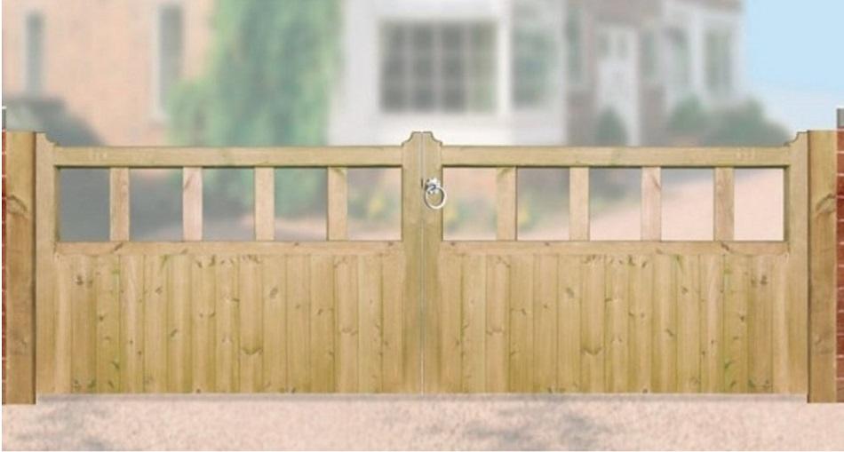 Quorn Wooden Driveway Gates