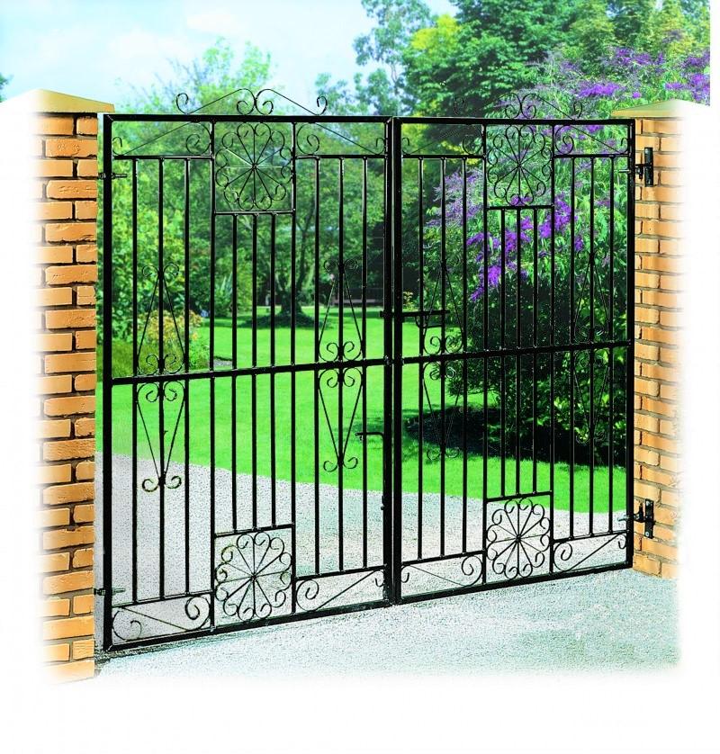Regency Wrought Iron Style Estate Gates