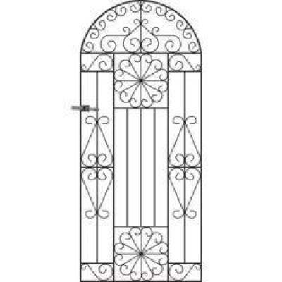 Regency Arched Metal Side Gate