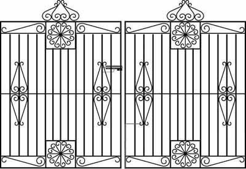 Regency Wrought Iron Style Estate Gates