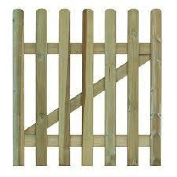 Round Top Palisade Wooden Garden Gate
