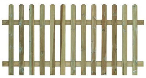 Round Top Picket Fencing - (1200mm high)