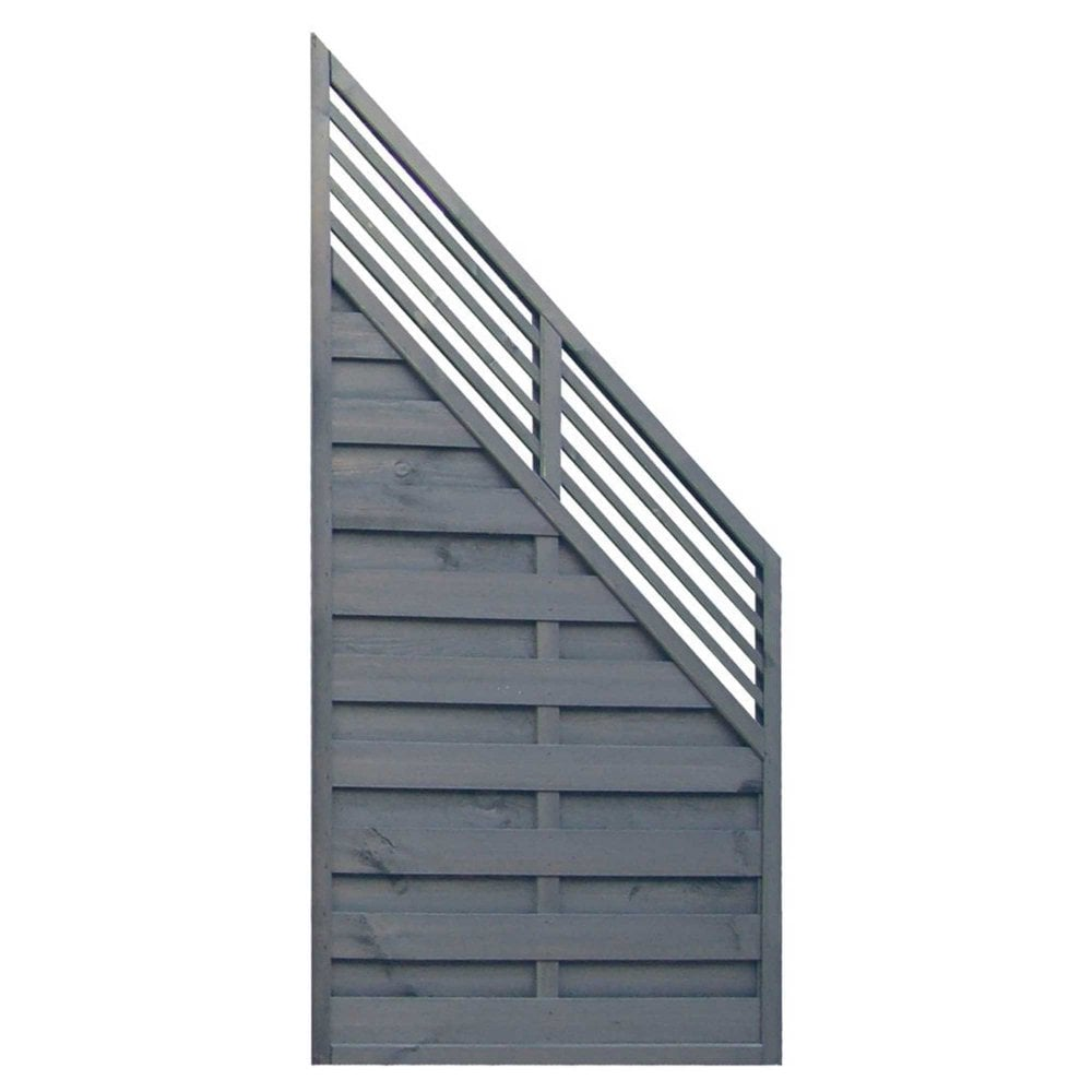 Sorrento Angled Wooden Garden Fence Panel