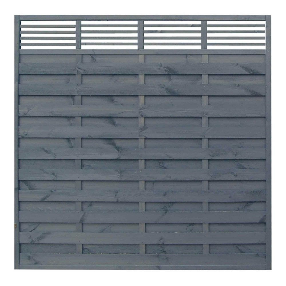 Sorrento Modern Wooden Garden Fence Panel